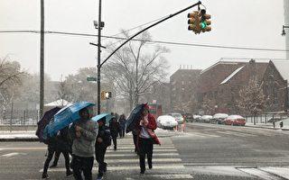 纽约迎来初冬第一场雪