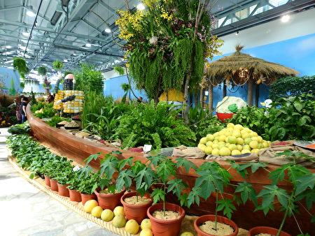 花博外埔園區的「良食方舟」,凸顯展館的農業主題。