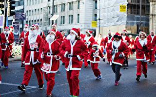 """汉密尔顿500""""圣诞老人""""5公里长跑"""