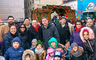 華埠聖誕樹亮燈 波士頓市長與民同樂
