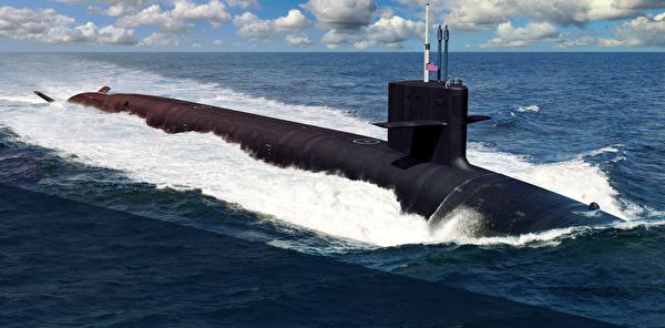 核動力的哥倫比亞級彈道導彈潛艇將比其前輩更隱蔽,具有安靜的電驅動推進系統。(維基百科公有領域)