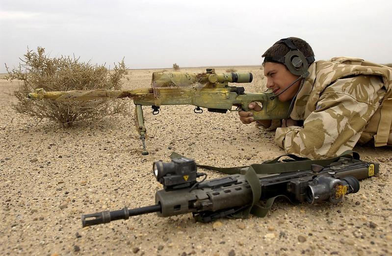 英狙擊手一槍殲滅6名塔利班武裝份子
