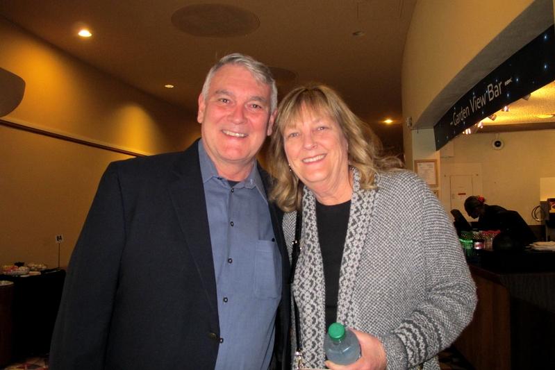 2018年12月20日下午,公司CEO Mark Thompson與妻子Terry Thompson觀看了神韻紐約藝術團在加州聖荷西表演藝術中心的第二場演出。(麥蕾/大紀元)