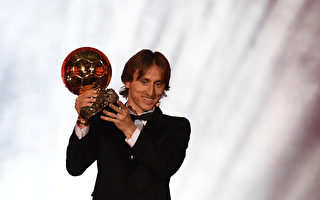 莫德里奇获金球奖 打破梅西C罗10年垄断