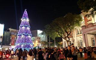台南街道美术馆千人组人体耶诞树