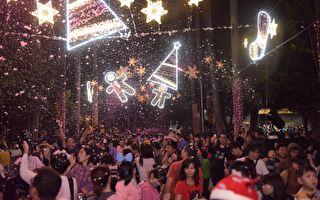 屏东下雪了!  粉红圣诞派对浪漫破表