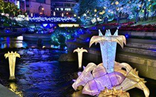 水中耶誕樹重現 柳川、葫蘆墩圳浪漫點燈