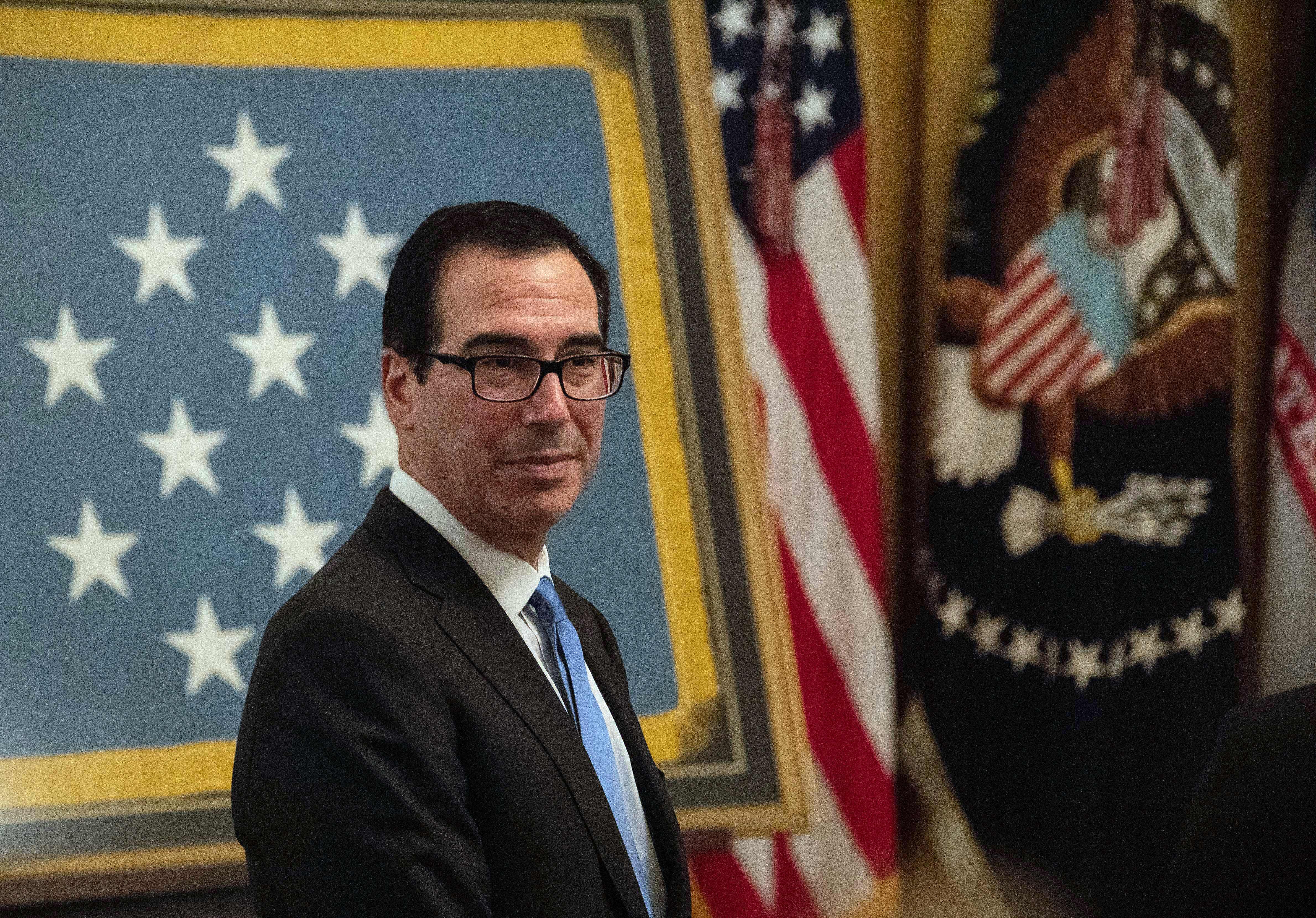 美財長:明年1月展開中美貿易談判