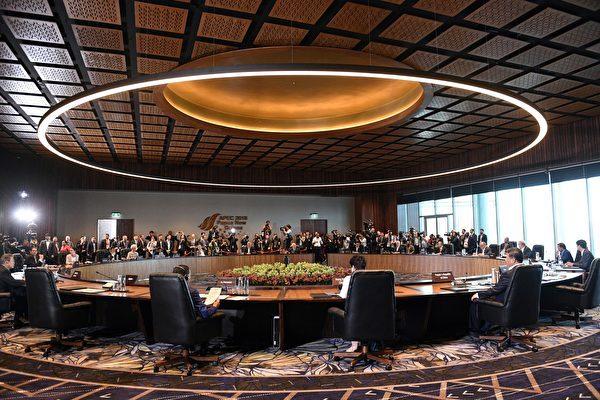 在巴布亞新畿內亞舉行的APEC峰會於11月18日落幕,峰會首次無領袖公報 。(SAEED KHAN/AFP/Getty Images)