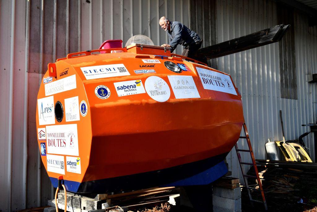 法71歲翁坐「木桶」擬三個月橫越大西洋