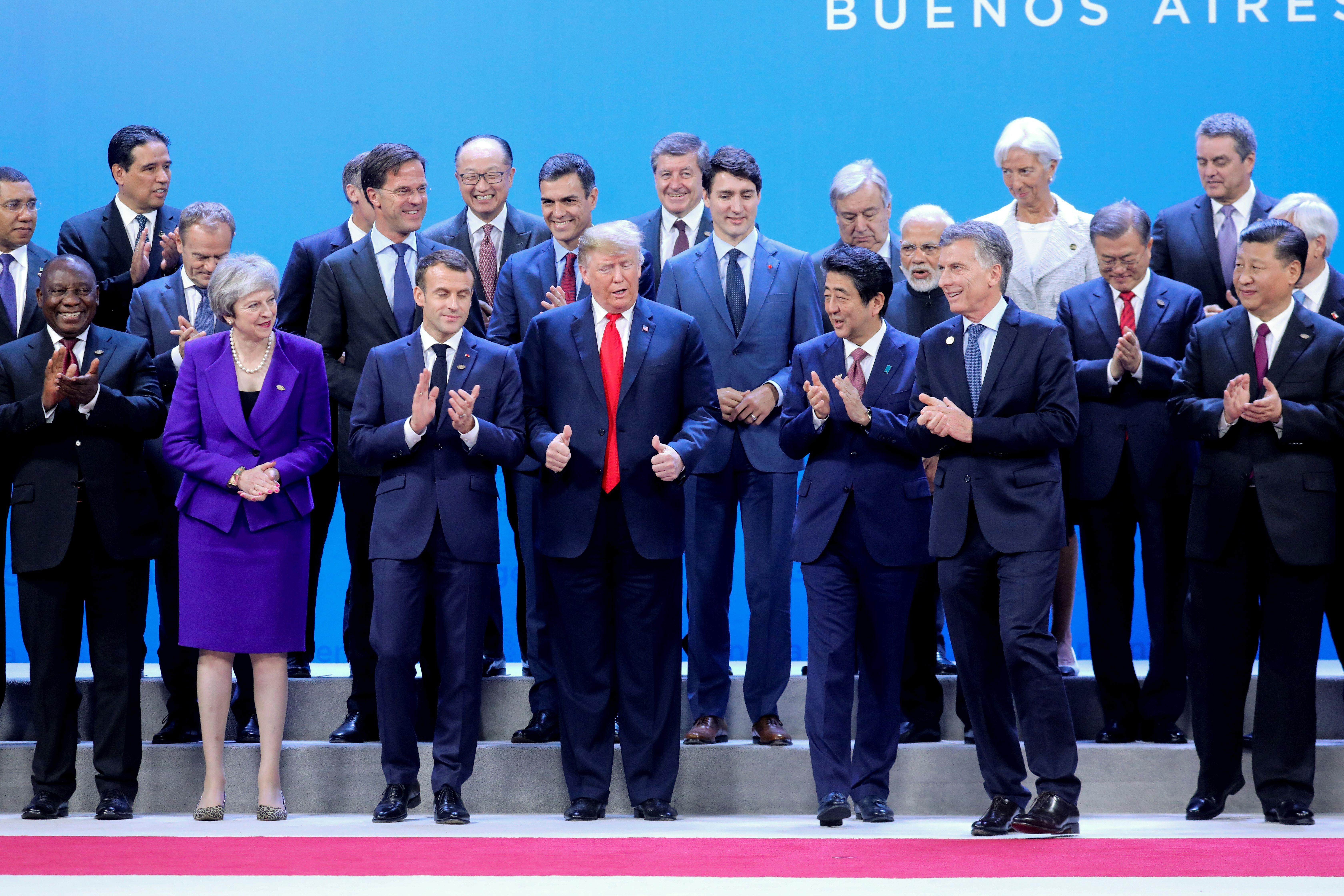 11月30日,G20首腦峰會在阿根廷開幕。(LUDOVIC MARIN/AFP/Getty Images)