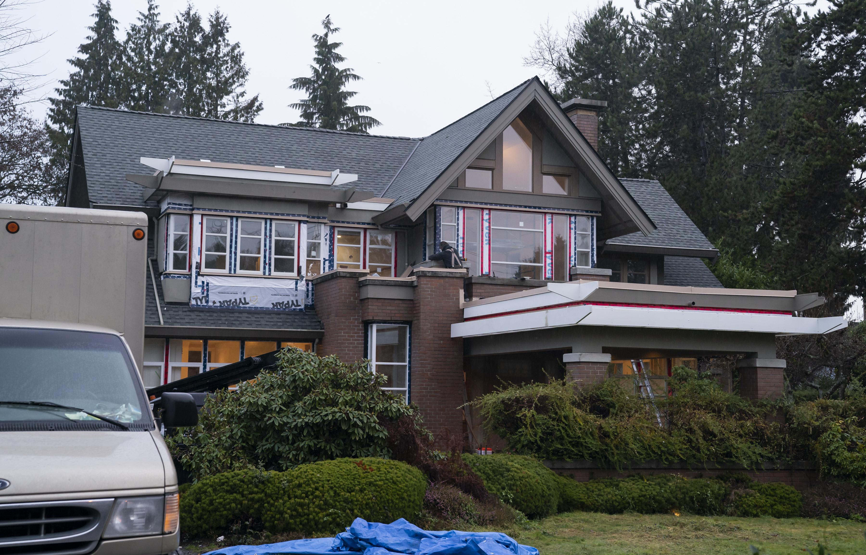 孟晚舟在溫哥華Matthews Avenue的豪宅,The Breaker新聞估價加幣1,630萬元。(Rich Lam/Getty Images)