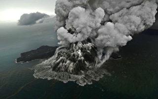 印尼火山喷发引发海啸后 高度减缩三分之二