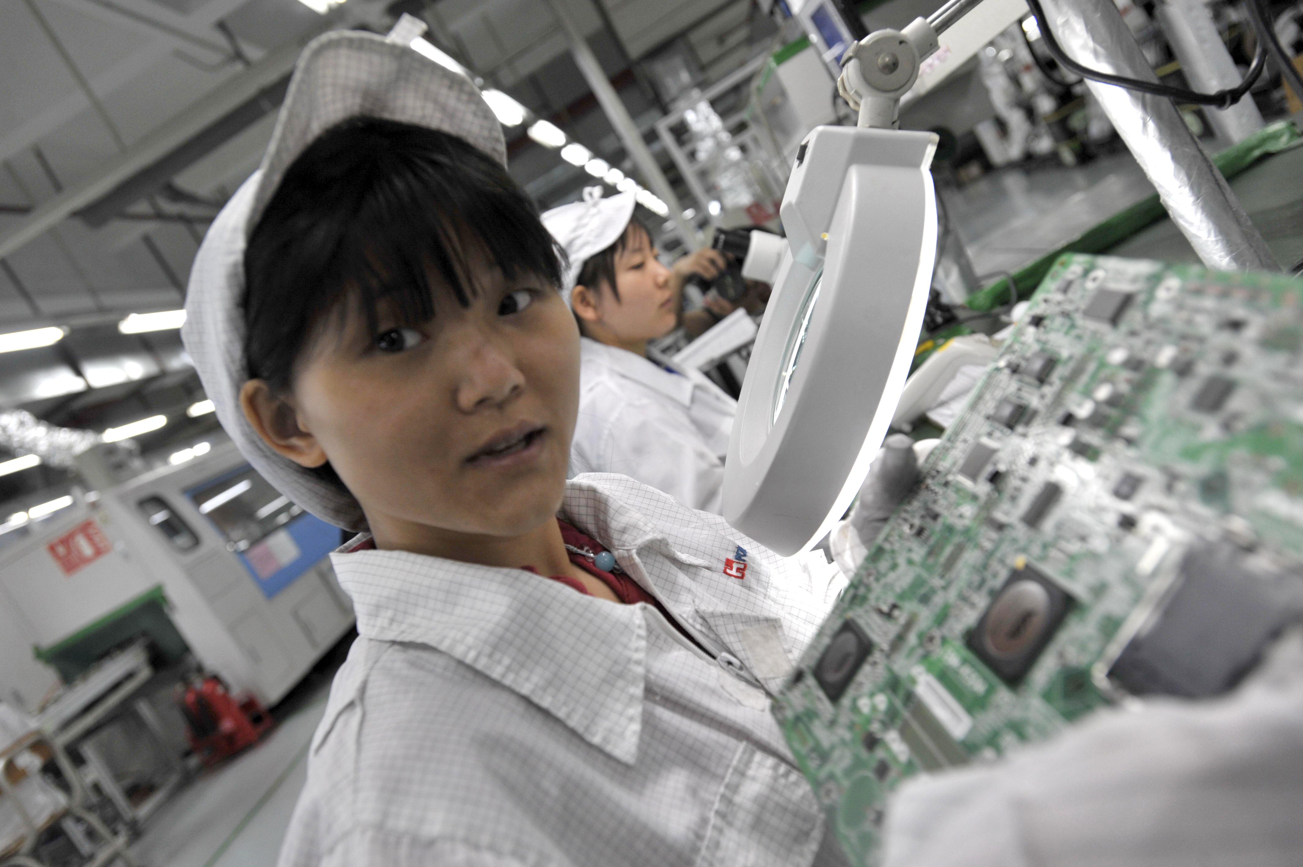 2010年5月27日,鴻海在廣東省深圳市投資的一家工廠。(STR/AFP/GettyImages)