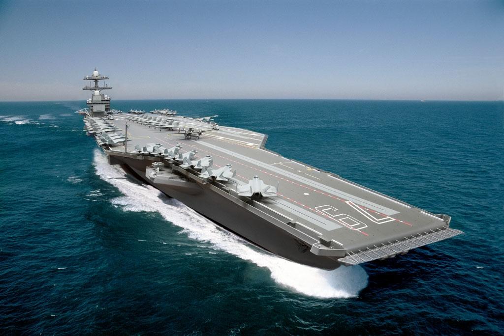 約翰·甘迺迪號(John F. Kennedy)將成為第二艘新型傑拉爾德·福特級(Gerald R. Ford class)航空母艦。(維基百科公有領域)