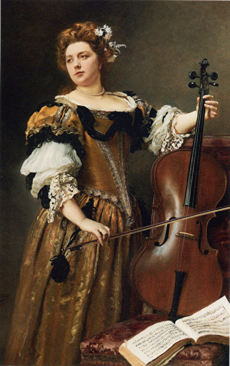 Jacquet_Gustave_Jean_The_Cello_Player_ 59 x 37.3 in