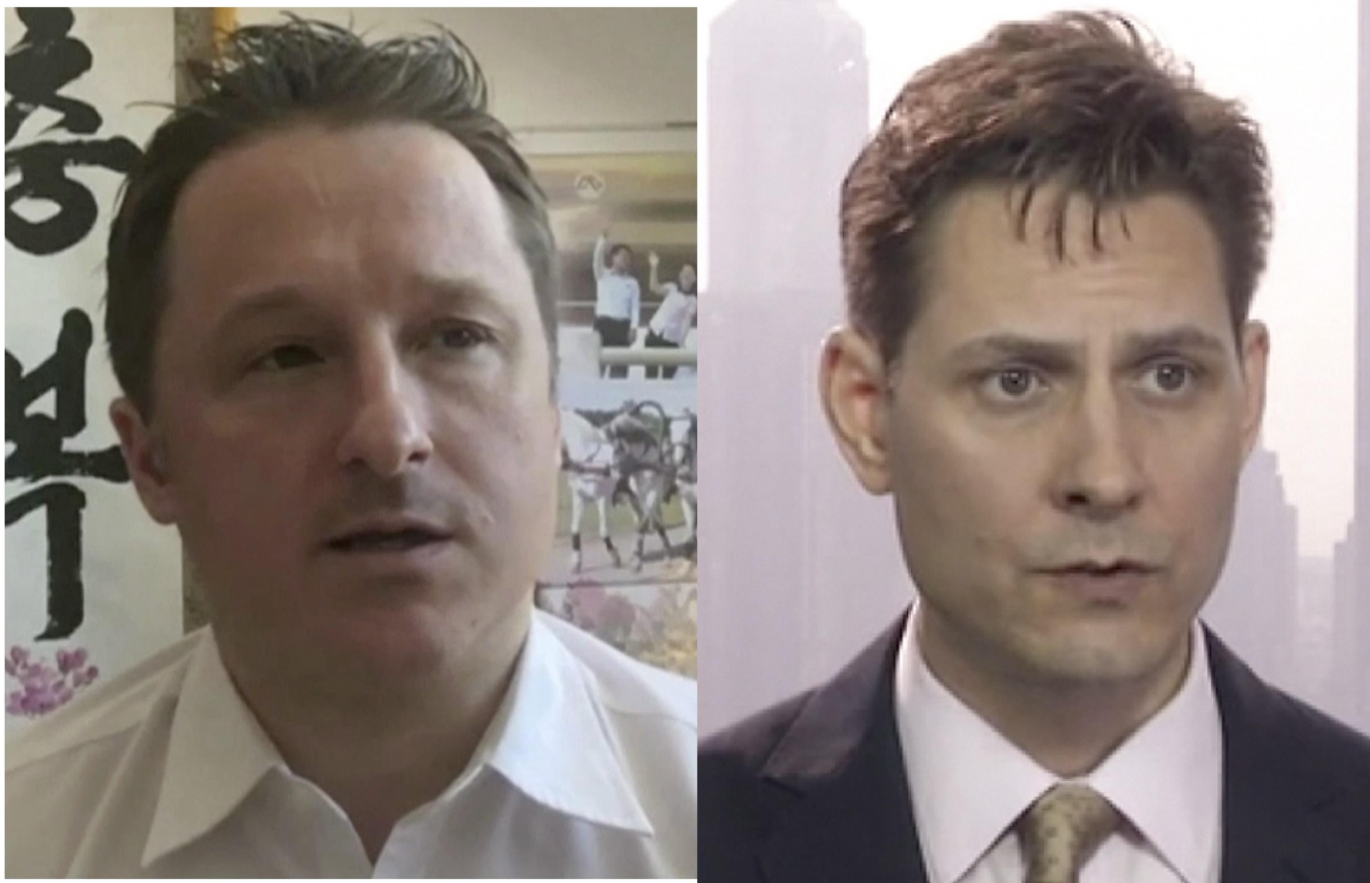 已有兩名加拿大人被中共拘押,目前,又有一名加拿大人被抓。左為斯帕沃,右為康明凱。(加通社)
