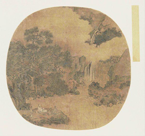 宋佚名《高士觀瀑圖》冊頁