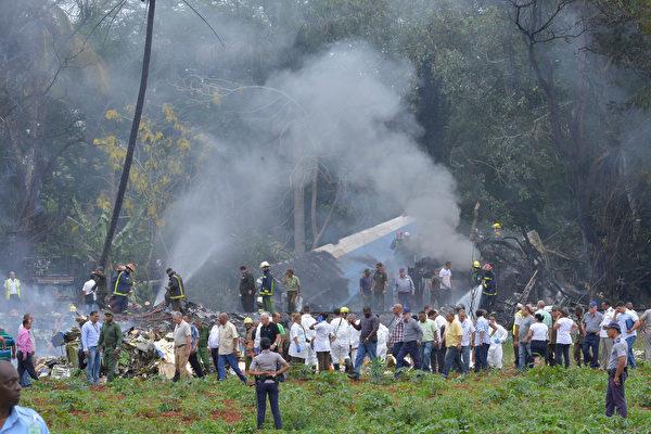 今年上半年發生多起飛機墜毀事件。圖為5月18日,一架波音737飛機從古巴首都哈瓦那(Havana)的何塞‧馬蒂國際機場(Jose Marti International Airport)起飛後,發生墜毀。(AFP PHOTO / Adalberto ROQUE)