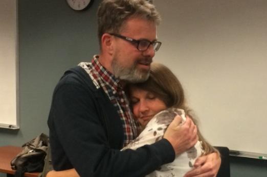 2016年9月15日,高凱文被中共關押2年多后,回到加拿大與妻子團聚。(高凱文家人提供)