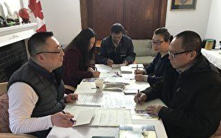 温哥华人写贺年卡 问候中国被关押正义人士
