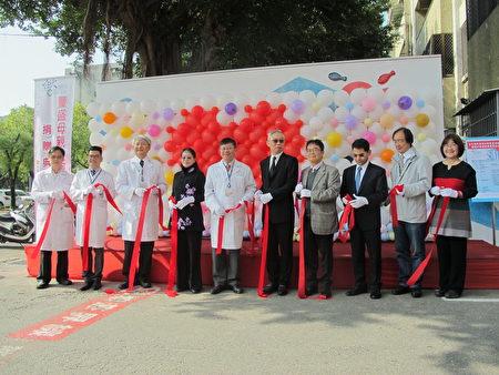 臺大醫院雲林分院,9日上午舉行「豐盛母親之河圍牆彩繪」揭牌儀式!