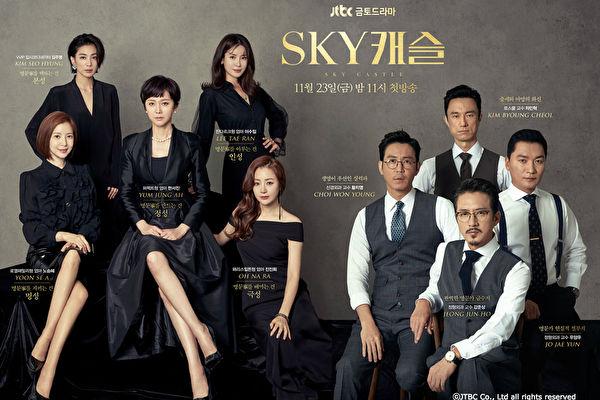 韓劇《SKY Castle天空之城》在韓國一播出就擁有高人氣。(KKTV提供)