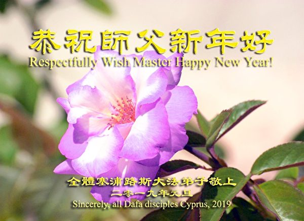 全體塞浦路斯大法弟子恭祝師尊新年好。(明慧網)
