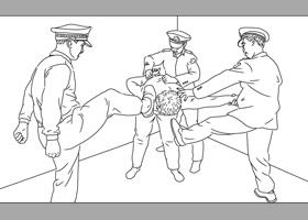 河北滄縣警察綁架五名法輪功學員
