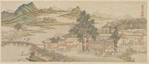 中国画 商人