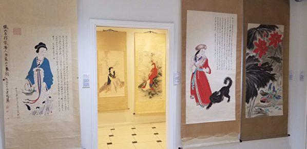 中和堂印行张大千月历 十二珍藏美人画