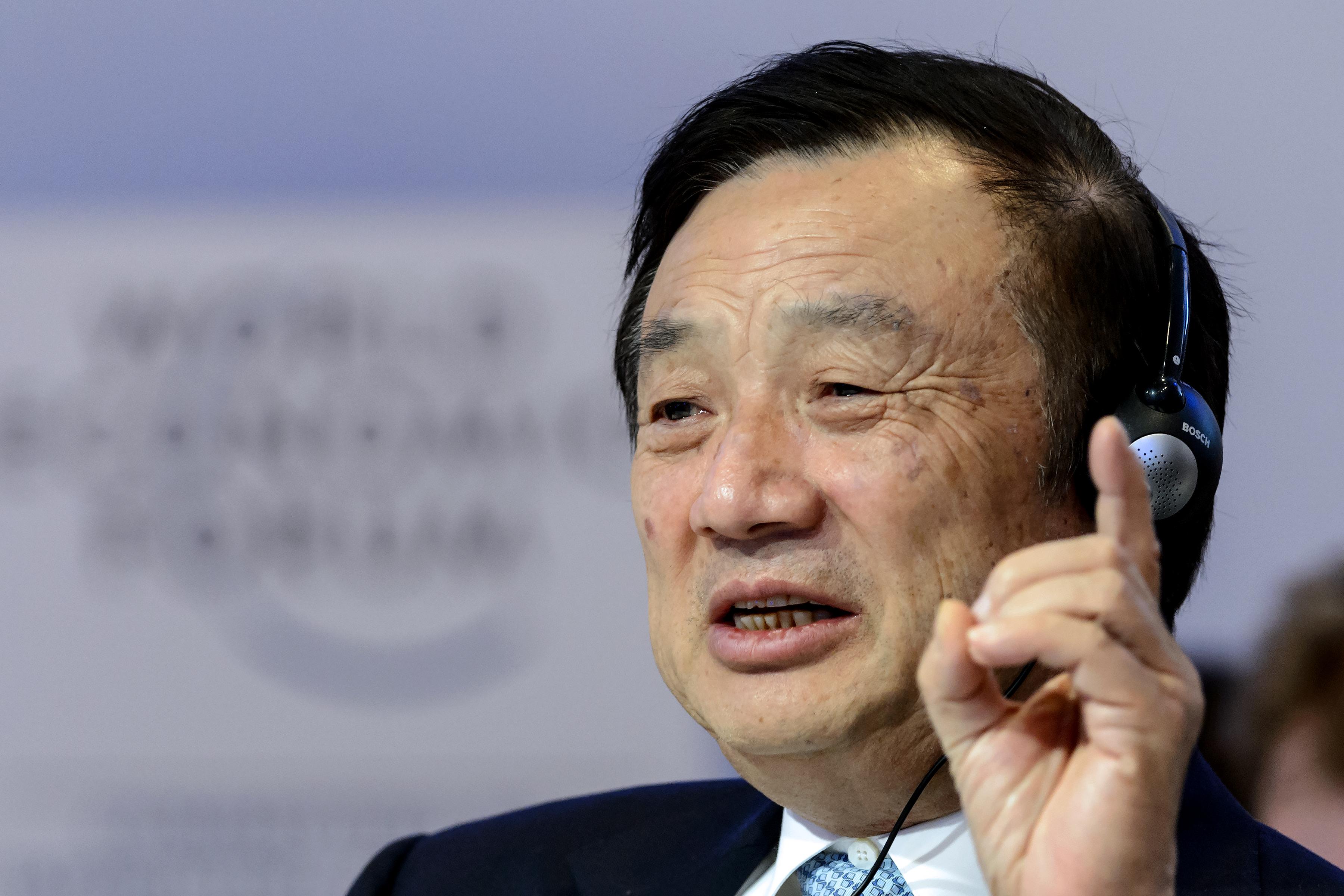 華為創始人任正非的軍方背景多次被媒體披露。圖為資料照。(AFP)