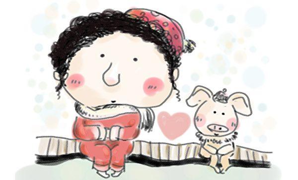 任它酸甜苦辣鹹,人餵給豬甚麼牠就吃甚麼,認命又樂活,值得一頌!(pixabay)