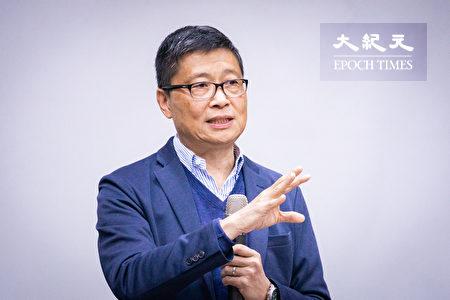 香港「佔中三子」之一的陳健民29日表示,沒有真正的民主普選,就沒有一國兩制,中共要跟台灣談「一國兩制」,先給香港真普選。(陳柏州/大紀元)