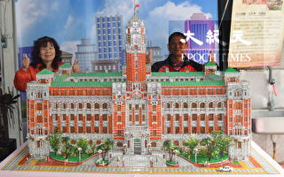 折纸高手 十万张四色牌搭建总统府