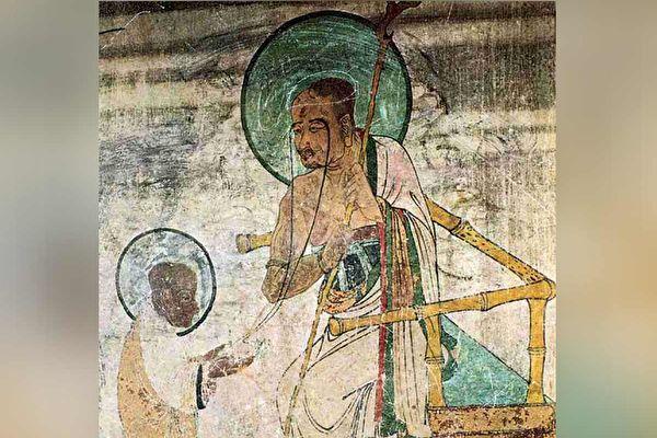 长眉罗汉,敦煌95窟南壁西侧壁画