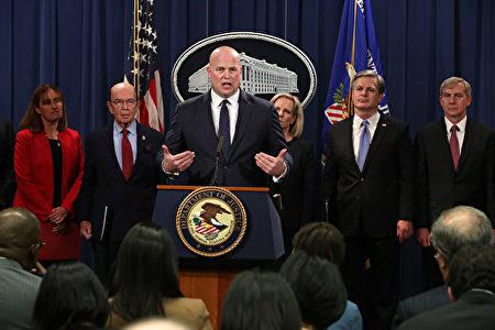 美東時間周一(1月28日)下午4點30分,美國司法部宣佈起訴華為及孟晚舟,並確認會向加拿大當局提出引渡孟的要求。(Chip Somodevilla/Getty Images)