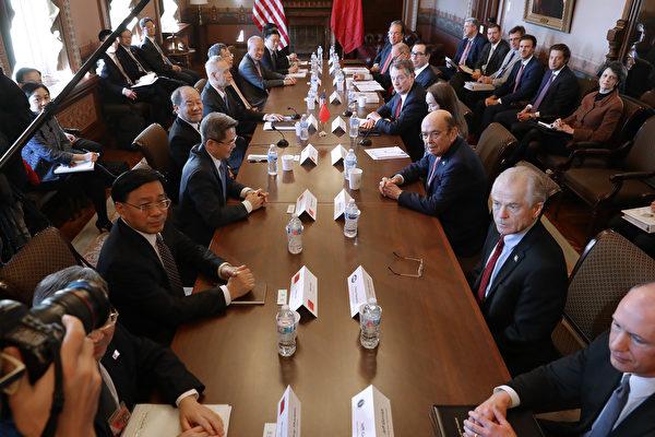 中美第六輪貿易談判於周三(1月30日)在華府登場,美國貿易代表羅伯特‧萊特希澤(Robert Lighthizer)及中共副總理劉鶴第一次以主談人身份交手。(Chip Somodevilla/Getty Images)