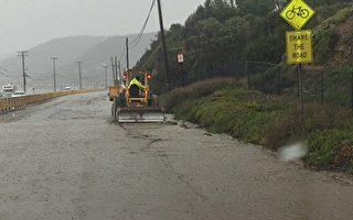 南加州连续暴雨 或引发泥石流危机