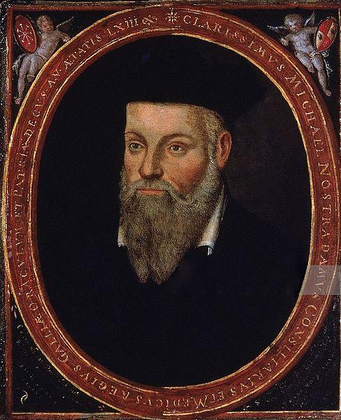 法國猶太裔醫生、先知諾查丹瑪斯像。(公有領域)
