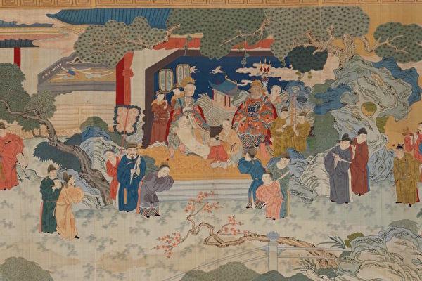 晚清《緙絲賀壽圖》,大都會藝術博物館藏。(公有領域)