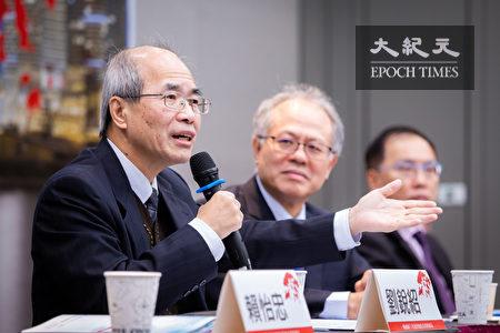 香港資深時事評論員劉銳紹(左1)表示,中共若發動戰爭,可能會引發西方社會發動比當前貿易戰規模更大的金融戰進行反制。(陳柏州/大紀元)