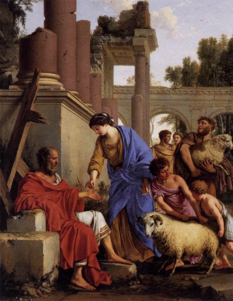 [法] 勞倫特·德·拉海爾,《約伯財富失而復得》,1648年作,布面油畫。(公有領域)