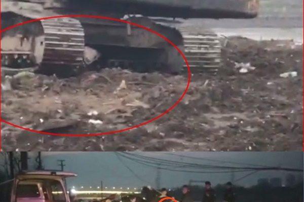 江蘇村官不作為 違規拆船現場挖掘機壓死人