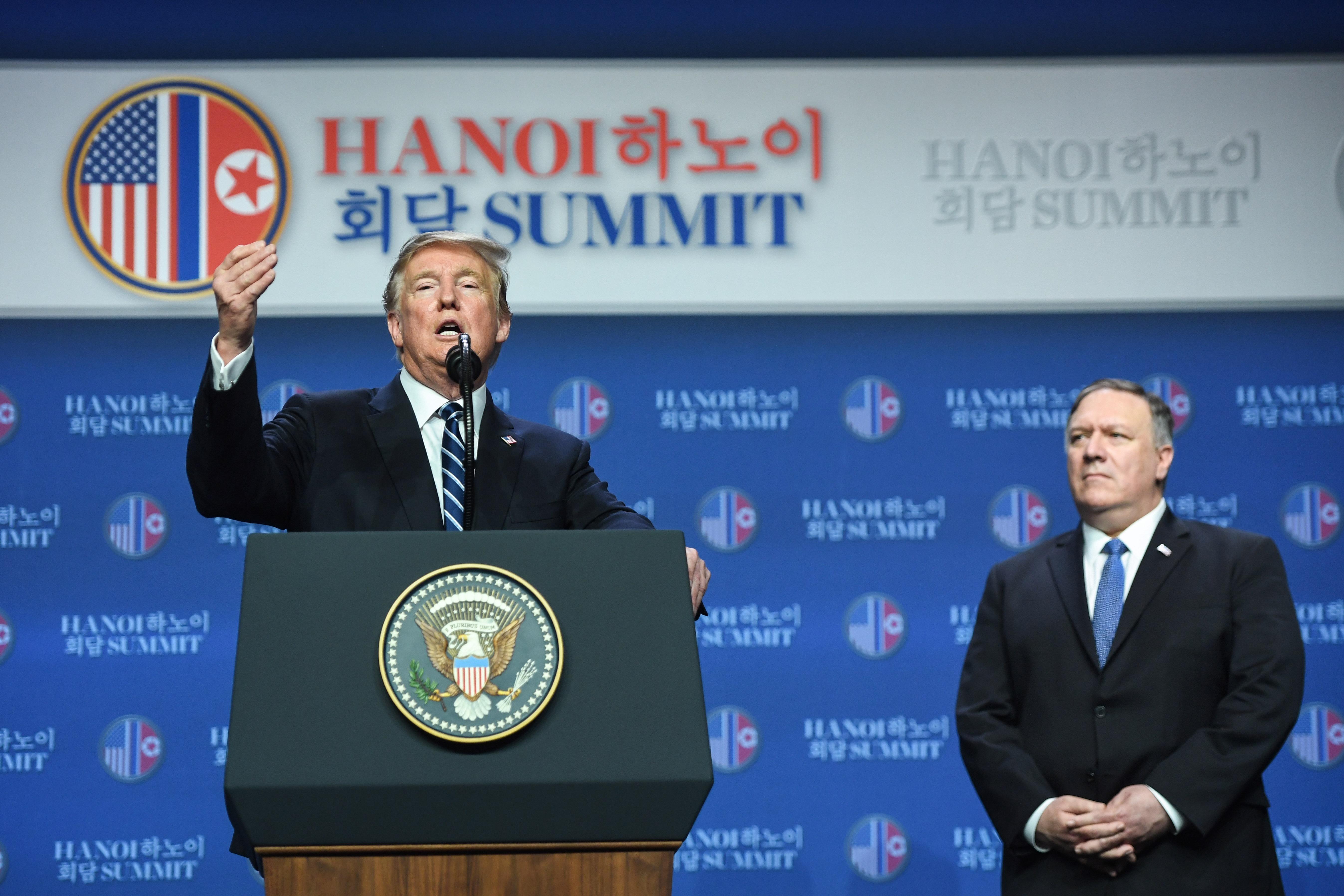 特朗普記者會:金正恩要解除制裁 我無法接受
