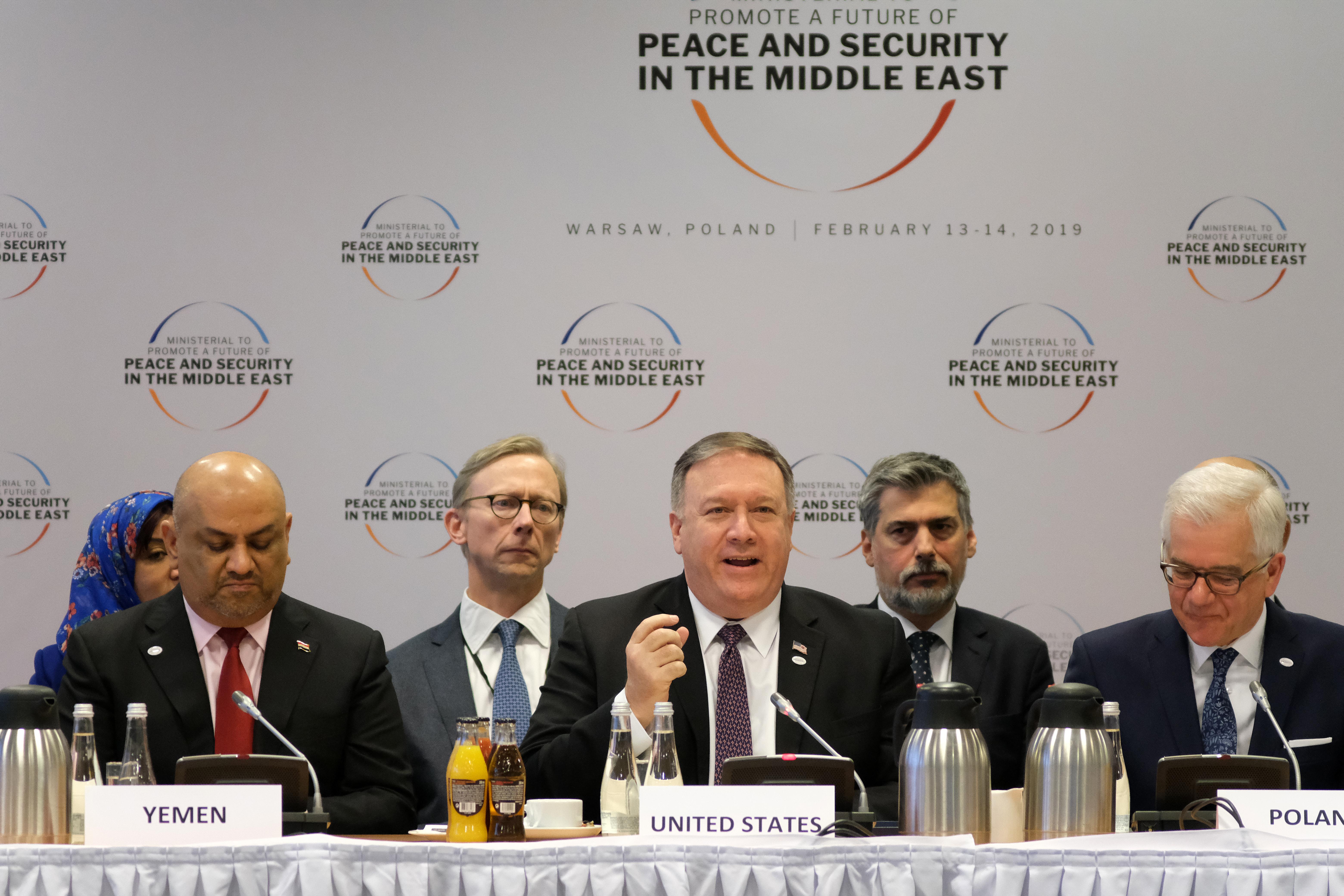 華沙會議 蓬佩奧呼籲建立中東合作新時代