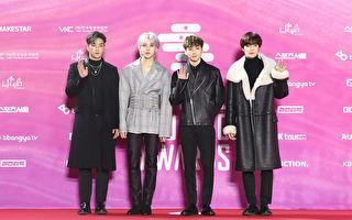 韩国人气男团NU'EST W出席第28届首尔歌谣大赏资料照。(Chung Sung-Jun/Getty Images)