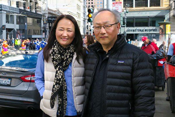 灣區法輪功學員舊金山遊行 迎新年送祝福