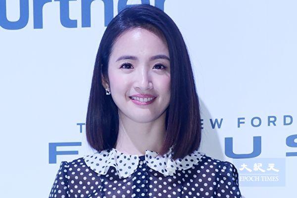 林依晨于2月20日在台北出席代言汽车广告活动