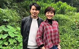 姚淳耀(左)、瑭霏(右)于27日跟随剧组在新北市瑞芳山区拍摄